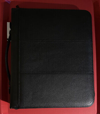 Wilsons Black Leather Portfolio Organizer Planner. Still Has Tags. Slightly Used