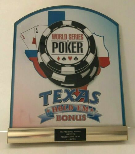 Vintage GENUINE WSOP Las Vegas Casino Texas Hold