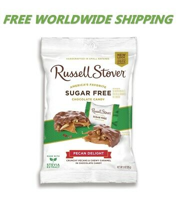 Russell Stover Sugar Free Pecan Delight Chocolate Candy 3 Oz WORLDWIDE SHIP ()