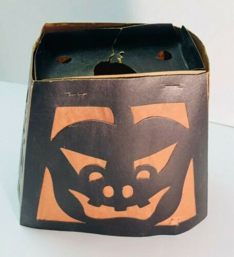 RARE Vintage 1930s BEISTLE JOL Halloween Party Lamp Shade Cut-outs w/Inserts HTF