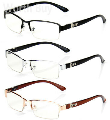 Half Rim Men Women OG Eyewear Clear Lens Frame Eye Glasses Designer Fashion (Half Lens Glasses)