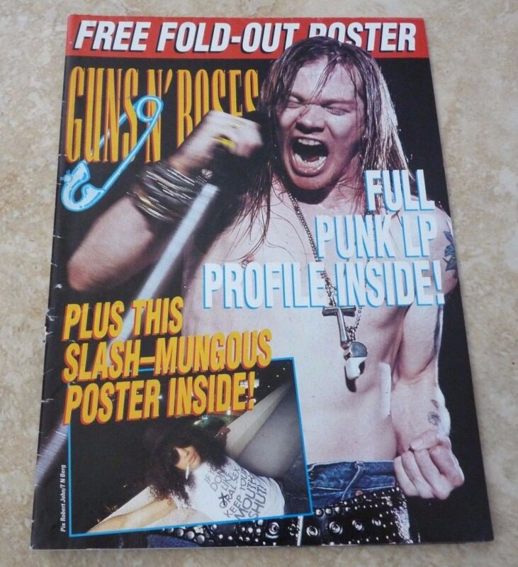 Guns & Roses 17x23 Vintage Hard Rock Magazine Fold Out Posters Photos