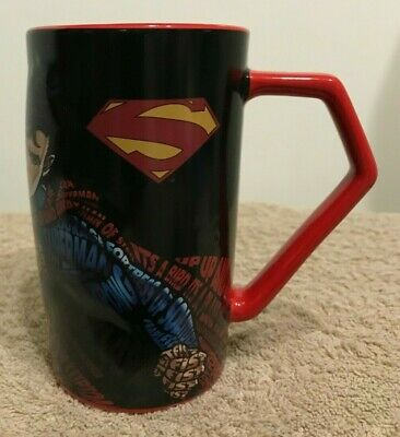 SUPERMAN 2-D Typography Ceramic Coffee Mug DC Six Flags Exclusive 2018