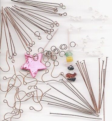 COPPER Jewelry Making Starters Wholesale Lot Assorted Supplies Kit Earrings