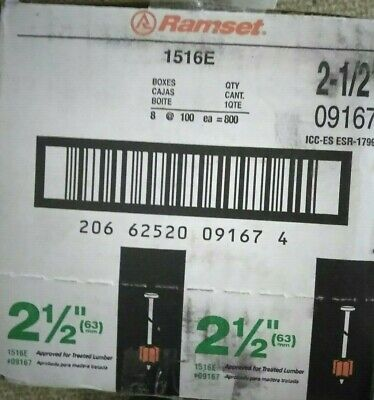 New Ramset Drive Pins 2-12 In. 09167