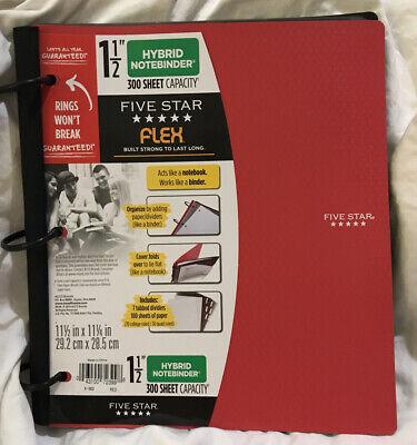 New Five Star 1.5 In. Flex Hybrid Notebinder Red