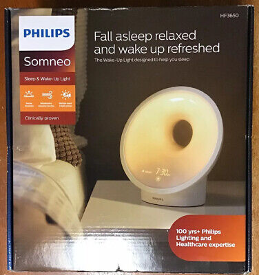 Philips Somneo Sleep & Wake-Up Light w/ RelaxBreathe HF3650/60 New