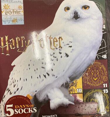 Women's Harry Potter OWL 15 Days of Socks Advent Calendar Christmas Gift