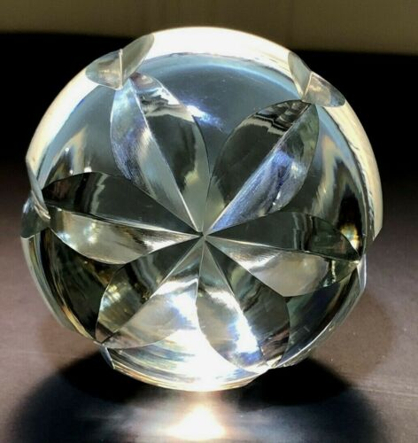 "Vintage Large Crystal decpratove cut Glass Decanter bottle Stopper 3.5"""