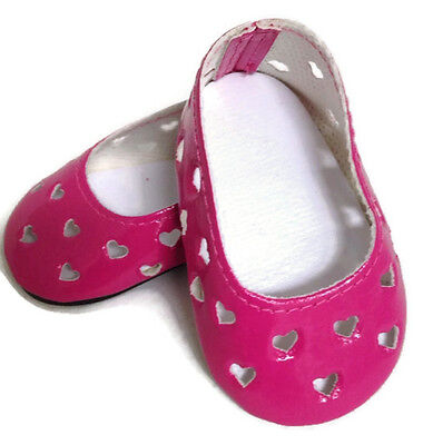 Pink with Heart Cutouts Dress Shoes made for 18