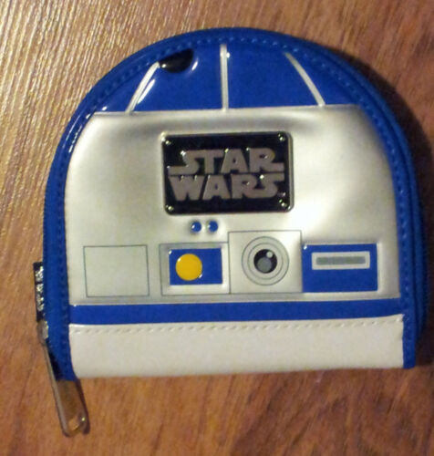 Star Wars R2D2 Coin Purse Loungefly Dome Shape Wallet Faux Leather Die Cut Zip