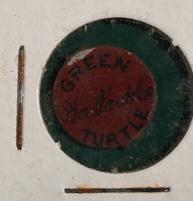 Vintage Green Turtle Tobacco Tag P. Lorillard Co.