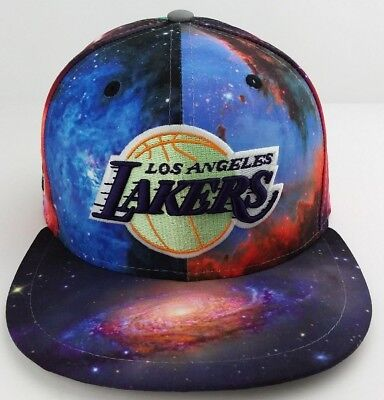 Los Angeles Lakers Galaxy print NBA New Era 59FIFTY fitted/hat/basketball cap