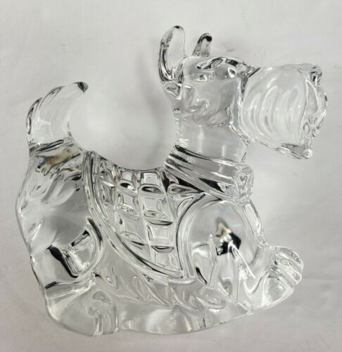 Lead Crystal Princess House Rocking Scottie Dog Figurine
