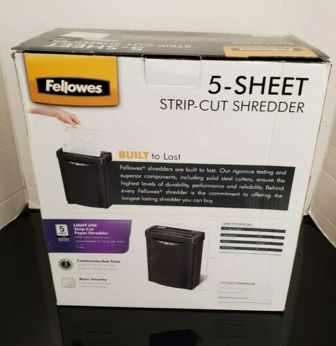 Fellowes 5-Sheet Strip Cut Paper Shredder CRC34026 New