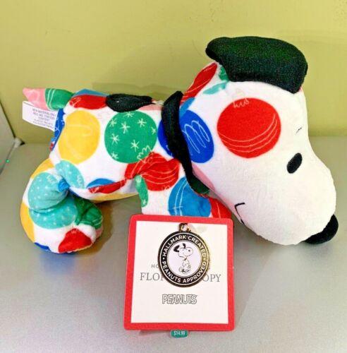 """Hallmark Peanuts Floppy Snoopy NEW Holiday Happiness Ornaments 10"""" Plush NWT"""