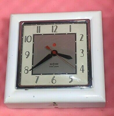 1940's NuTone Time Chime Mid Century Art Deco Red Dot Vintage Clock