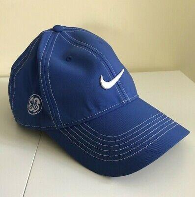 7a8a8c464f7ba Nike Golf Hat GE Target Sponsor Logo Blue White Adjustable Size EUC