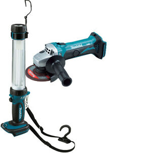 Makita-BGA452-18v-Cordless-Angle-Grinder-115mm-Lithium-Ion-BML184-Torch
