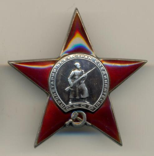 Soviet Russian Researched Order of the Red Star #14563 for Finnish War