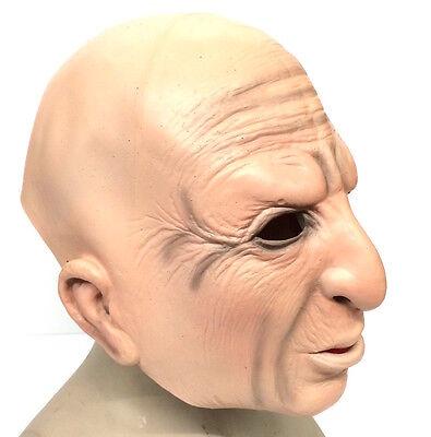 Alter Mann Realistische Maske 3/4 Gesicht Halloween Kostüm Herren Oap - Promi Halloween Kostüm