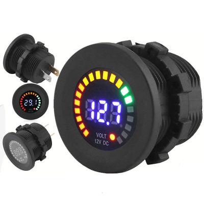 Waterproof 12v Led Car Van Boat Marine Display Voltmeter Voltage Meter Battery