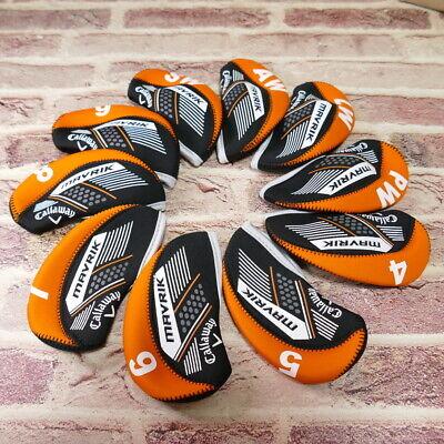 Golf Iron Club Your Own Callaway MAVRIK Cover Orange & Black Color 10P One Set