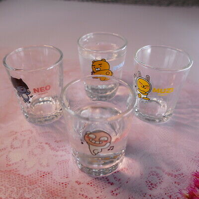 Kakao Friends Dancing Soju Cup 4 Piece One Set