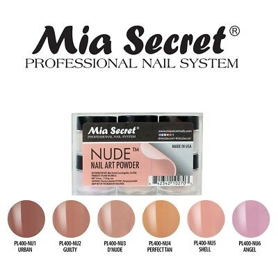 Mia Secret Nude Nail Acrylic Powder Collection Set of 6 Nail Art Professional