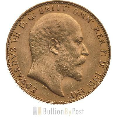 Gold Full Sovereign - King Edward VII