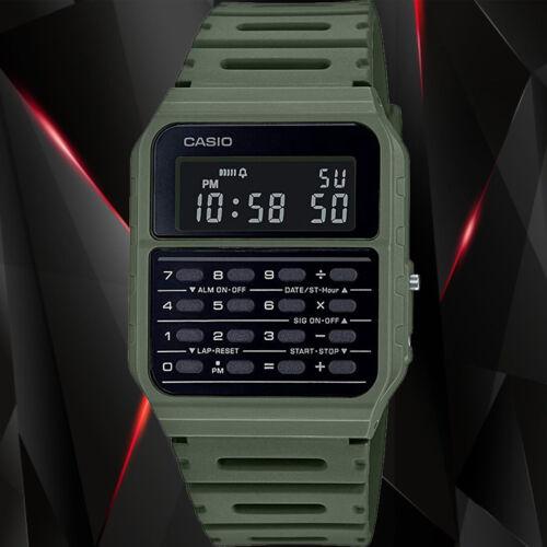 Casio 1980s Green Calculator Watch CA53WF-3BC Alarm Stopwatch New 2020 Release