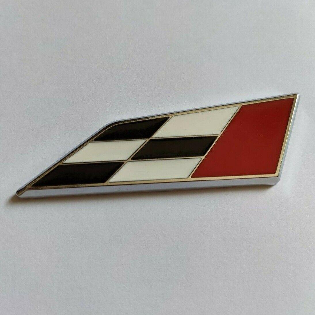 Schwarz Rot Karierte Flagge Metall Racing Plakette Für Mercedes A S C E CLASS SL