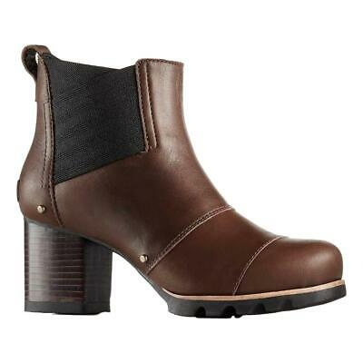 Stylish High Heel Boots (New $190 Sorel womens Addington Chelsea stylish high heel boots Brown)