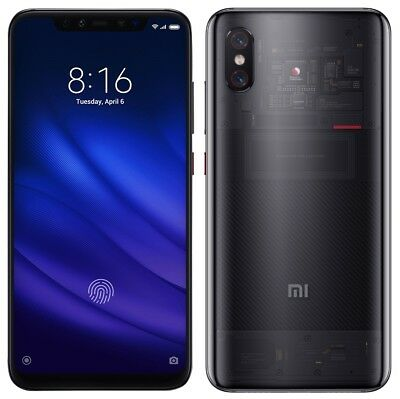 "Xiaomi Mi 8 PRO M8 128GB Transparent (FACTORY UNLOCKED) 6.21"" 8GB Ram Dual Sim"
