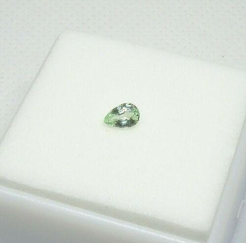 Merelani Grossular Garnet - Pear - 0.30ct - 5x3.2mm Mint Green - Loose Gemstone