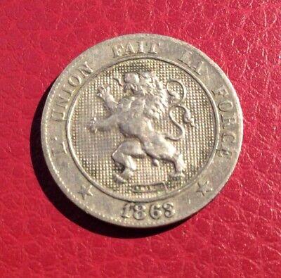 Belgique - Léopold Ier  -Très Jolie monnaie de 5 Centimes 1863 variété 3 cassé