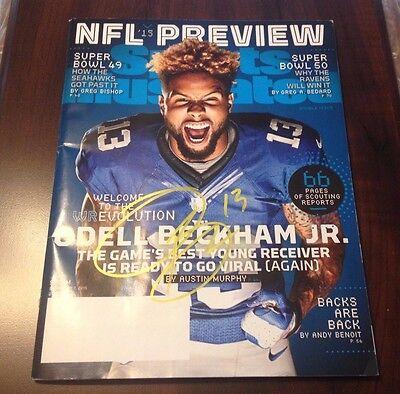 ODELL BECKHAM JR AUTO  NFL PREVIEW MAGAZINE FRONT COVER AUTO W/COA