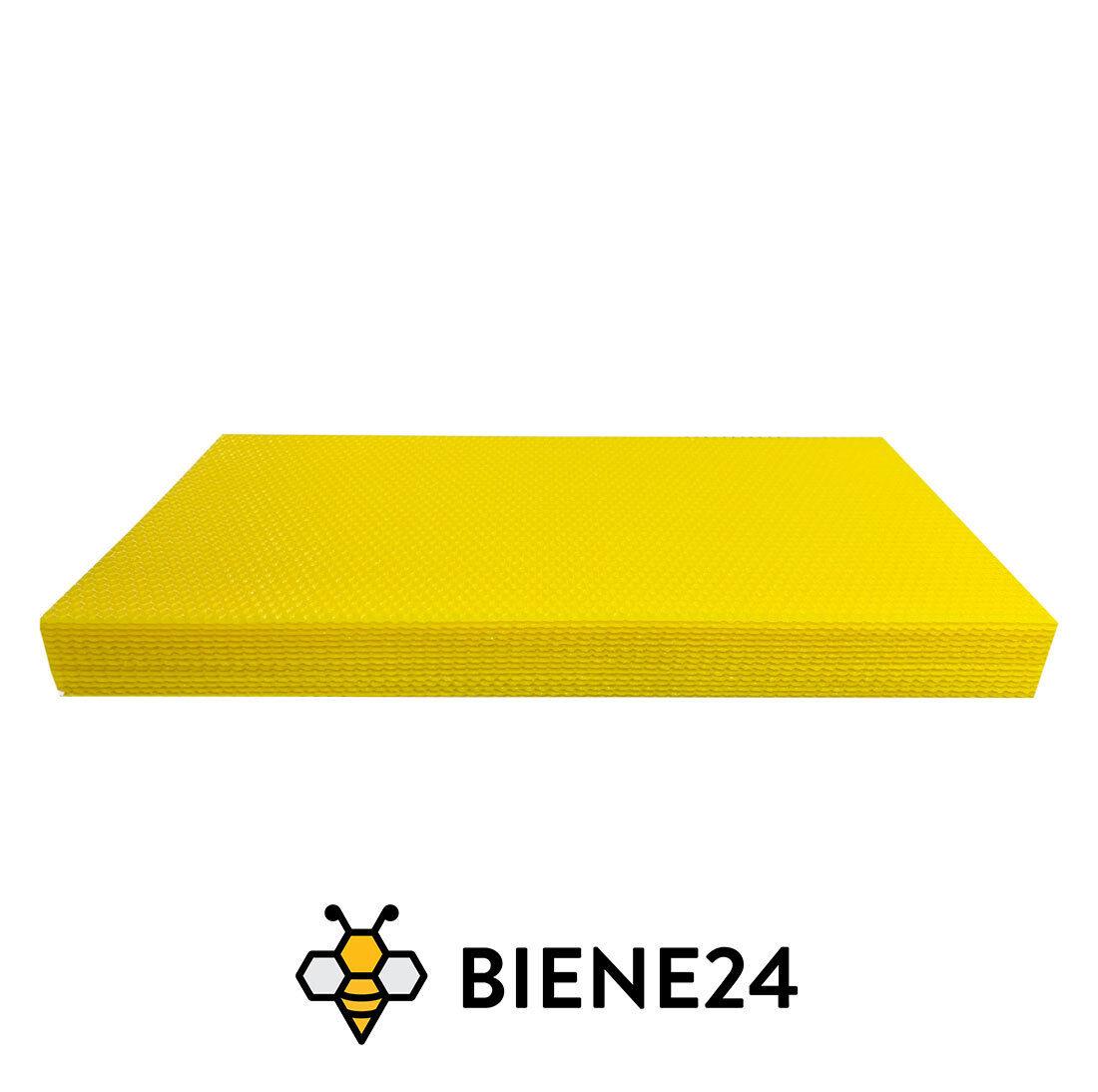 Bienenwachs, Wachsplatte,Imkerei BIO Dadant US 420 x 260 mm Mittelwand