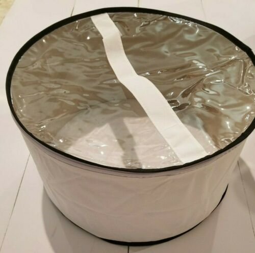Large hat box White with Black trim