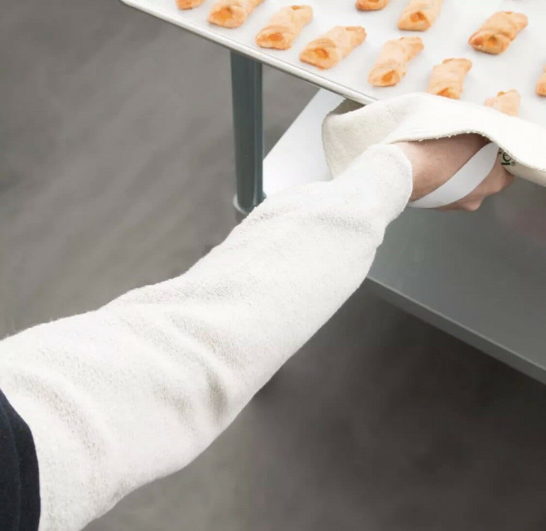 MCR Safety Heat Resistant Sleeve 18 3 Set Cloth For Restaurant Cafeteria Bakery - $12.95