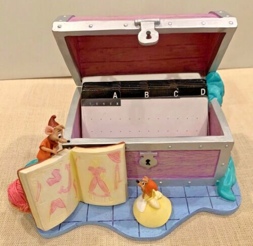 SUPER RARE Disney CINDERELLA Recipe Box with Cards