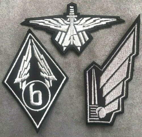 STARSHIP TROOPERS Mobile Infantry Embroidered Patch Set badges marines uniform