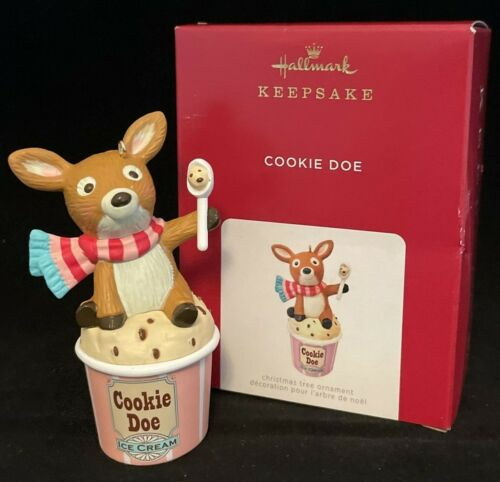 COOKIE DOE Ice Cream Deer  2021 Hallmark Ornament