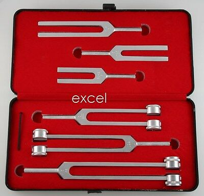 6 Tuning Fork Set Surgical Medical Chiropractic Physical Diagnostic Instruments