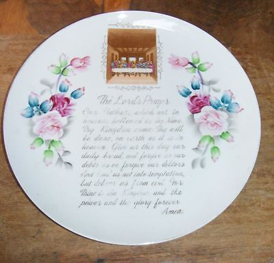 (The Lord's Prayer Decorative Plate Floral )