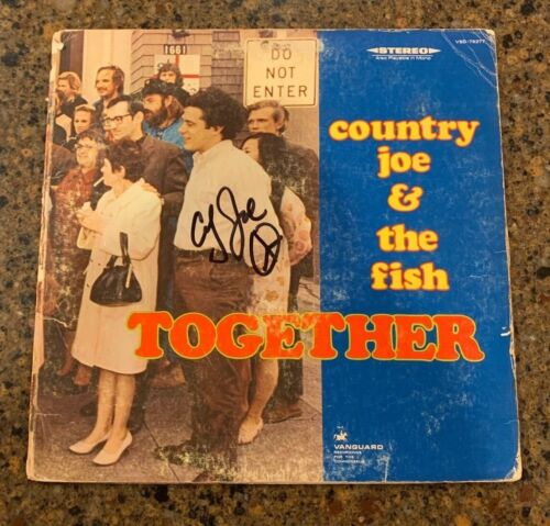 * COUNTRY JOE & THE FISH * signed vinyl album * JOE MCDONALD * TOGETHER * 1