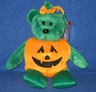 TY TRICKY the HALLOWEEN BEAR BEANIE BABY - MINT with MINT TAG ](Beanie Baby Tag Halloween)