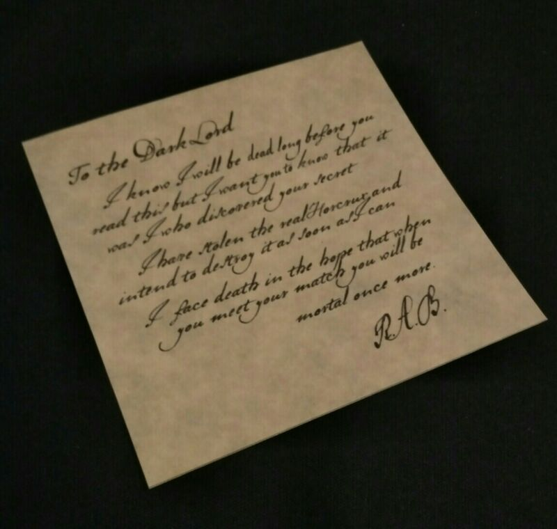 Locket RAB Note Prop Replica Harry Potter and the Half Blood Prince
