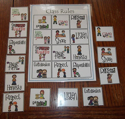 Class Rules Learning Center Labels.  Daycare supplies and accessories.  Homescho