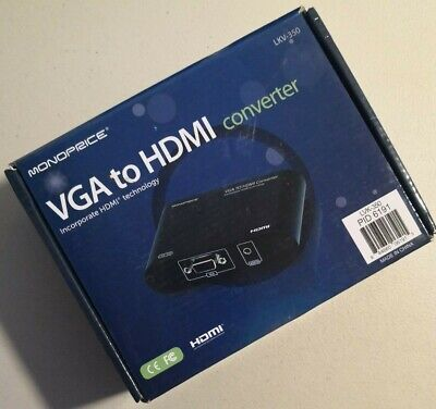 Monoprice LKV-350 VGA to HDMI Converter *New Unused* for sale  Shipping to India